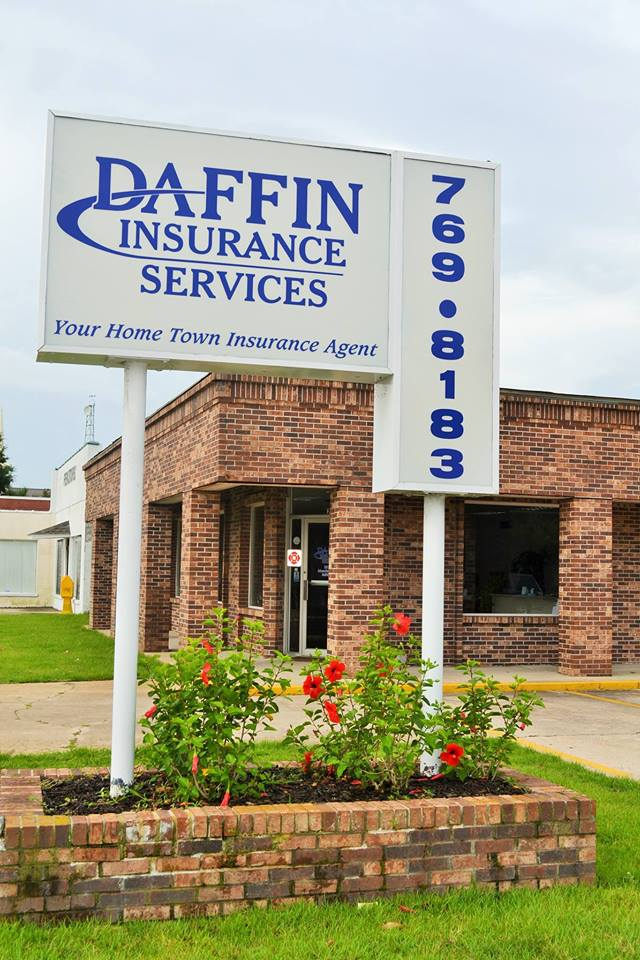 Daffin insurance office front sign